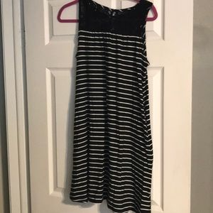 Merona size small striped with lace top